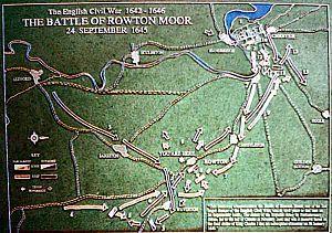 Battle of Rowton Heath - Rowton Moor Plan