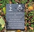 Royal Corps of Signals memorial, St John's Gardens.jpg
