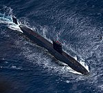 Royal Navy Trafalgar-class submarine HMS Trenchant (S91).jpg