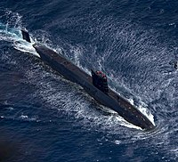 Royal Navy Trafalgar-class submarine HMS Trenchant (S91)