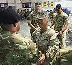 Royal Tongan Marines say farewell, lower flag in Afghanistan 140501-M-YZ032-512.jpg