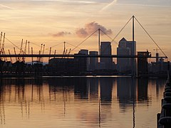Royal Victoria Dock - with Canary Wharf and the Millennium Dome in the background - geograph.org.uk - 1168534.jpg