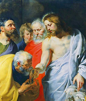 Restoration of Peter - Peter Paul Rubens, Christ's Charge to Peter, c. 1616