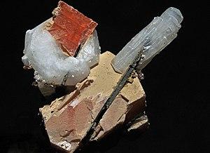 Mineral - Crystals of serandite, natrolite, analcime, and aegirine: Mont Saint-Hilaire, La Vallée-du-Richelieu RCM, Montérégie, Québec, Canada