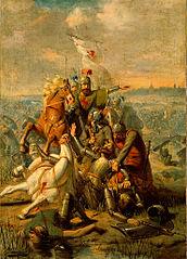 Anno 1018. De hertog van Lotharingen wordt door Dirk III van Holland bij Dordrecht verslagen