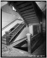 SECOND FLOOR, SOUTH CORRIDOR, VIEW OF STAIRWAY - Mutual Life Building, 601-607 First Avenue, Seattle, King County, WA HABS WASH,17-SEAT,3-7.tif
