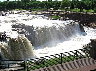 Minnehaha County, South Dakota - The falls of the Big Sioux River at Falls Park
