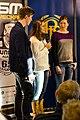 SM-veckan 2013 presskonferens 15 Calle Halfvarsson, Anna Haag, Sara Lindborg (Längdskidor) 2.jpg