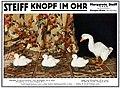STEIFF Knopf im Ohr - Ente und Gans, Werbung 1914.jpg