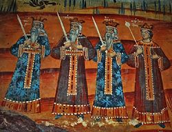 Saint Achillius Church in Pentalofos Zoupan Church Fresco 1774 - 1.jpg