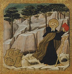 Giovanni di ser Giovanni Guidi: Saint Anthony Abbot Tempted by Gold