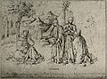 Saint Augustine of Hippo. Reproduction of pen and ink drawin Wellcome V0031652.jpg