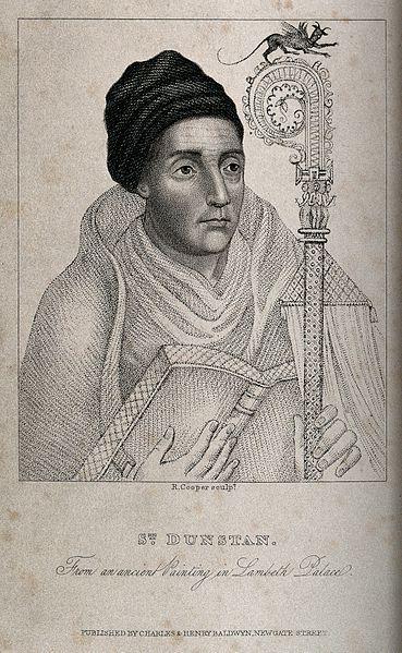 File:Saint Dunstan. Stipple engraving by R. Cooper. Wellcome V0031915.jpg