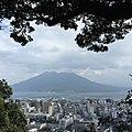 Sakurajima (an active volcano) view from Shiroyama park,Kagoshima Prefecture in Kyushu, Japan - panoramio.jpg