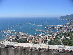 Panorama dal castello di Arechi