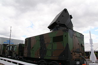 "Aster (missile family) - The ""radar module"" of the SAMP/T Ground-based area defence system."