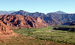 View of the Quebrada de Cafayate