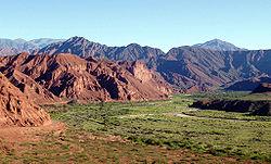 Valles Calchaquíes, en cercanías de Cafayate