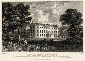 Saltram House - Saltram House circa 1832, by William Henry Bartlett