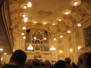 Mozarteum University of Salzburg - The interior of the Mozarteum in Salzburg.