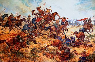 Battle of San Pasqual - Battle of San Pasqual painting