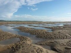Sandbanks in the Dyfi estuary at low tide (geograph 3619622).jpg