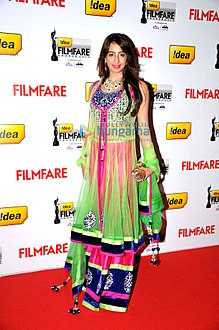 Sanjjanaa at the 60th Filmfare Awards South