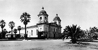 Santa Clara University - Mission Santa Clara de Asis prior to the 1925 fire