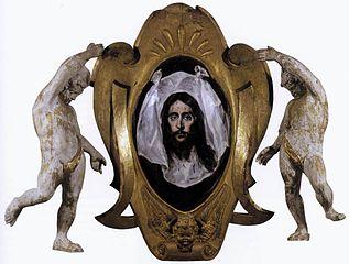 Zwieńczenie z chustą św. Weroniki