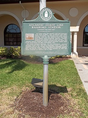 A.M. Griffin - Image: Sarasota FL old ACL depot site marker 01a