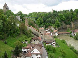 Röstigraben - The Saane/La Sarine  in Fribourg