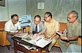 Saroj Ghose And Goto Executive Signing MOU Of Goto GSS-Helios And Astrovision-70 Projection System For Science City - NCSM - Calcutta 1995-06-15 242.JPG