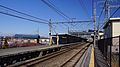Sashiogi Station platform 1 looking east 20140315.JPG