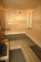 Interior de una sauna típica