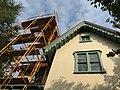 Scaffolding to roof, Bolton Hill Nursery School, 204 W. Lanvale Street, Baltimore, MD 21217 (36780599235).jpg
