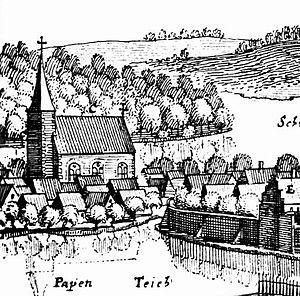 Schelf Church - Image: Schelfkirche Schwerin 1653