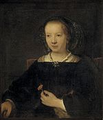 School of Rembrandt - Young Woman with a Carnation.jpg