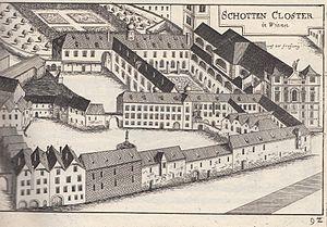 Schottenstift - Schottenstift copper engraving, 1672