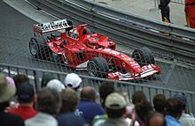 Photo de la Ferrari F2004 de Michael Schumacher à Monaco