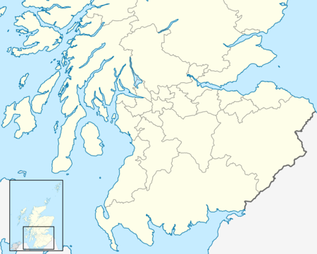 Lowland Football League trên bản đồ Scotland South