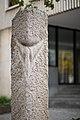 Sculpture Drei Muschelkalkstelen Ulrike Enders Berliner Allee Hanover Germany 02.jpg
