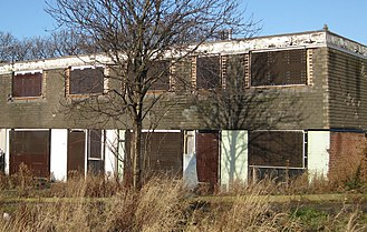 Abandonment (legal) - Abandoned houses in Seacroft, Leeds, England, UK.