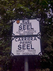 Second image, street in Toulouse named after Pierre Seel.jpg