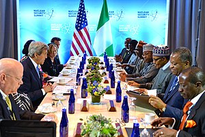 James F. Entwistle - Entwistle, far left, meets with African leaders at the 2016 Nuclear Security Summit in Washington