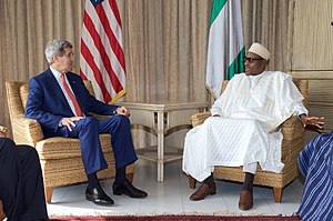 Nigerian general election, 2015 - US Secretary of State meeting the two leading candidates.
