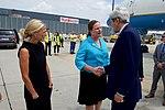 Secretary Kerry Shakes Hands With Ambassador Holgate at the Vienna International Airport (28364677462).jpg