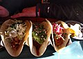Selection of tacos at The Mexican Corner (31633995411).jpg