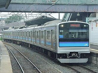 Senseki Line - Senseki Line 205-3100 series train at Tagajō Station