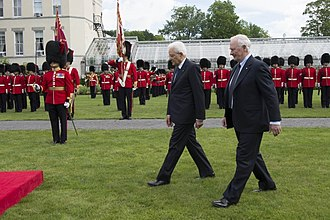 State visit - The Governor General's Foot Guards typically mounts the guard of honour during state visits to Canada.