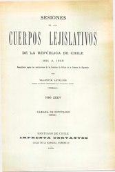 Valentín Letelier: Sesiones de los Cuerpos Lejislativos de la República de Chile